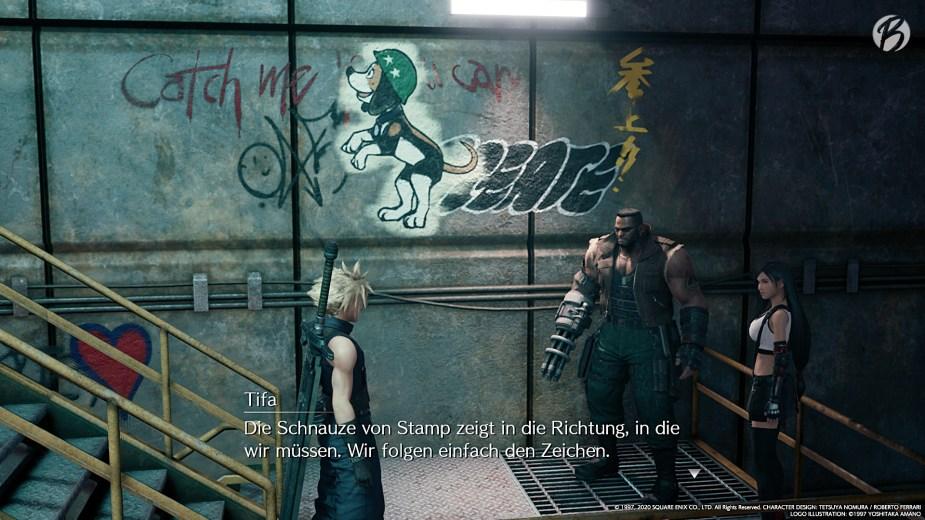 FINAL FANTASY VII (Remake) - Die Graffiti in FF7 Remake sind nicht nur Deko.