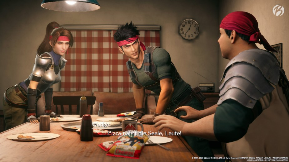 FINAL FANTASY VII (Remake) - So spät Nachts noch Pizza, wenn das mal nicht ansetzt.