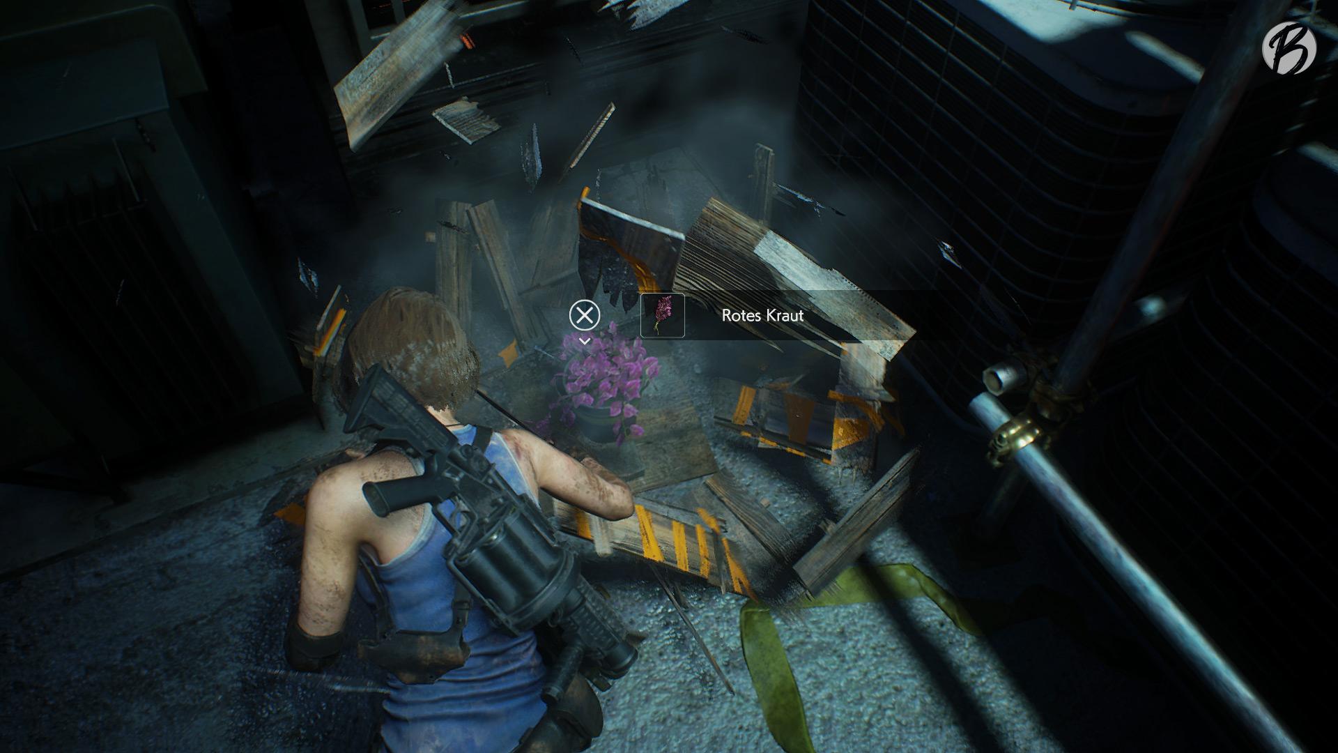 RESIDENT EVIL 3 (Remake) - In den mit gelbem Klebeband gekennzeichneten Kisten verbirgt sich immer etwas Nützliches.