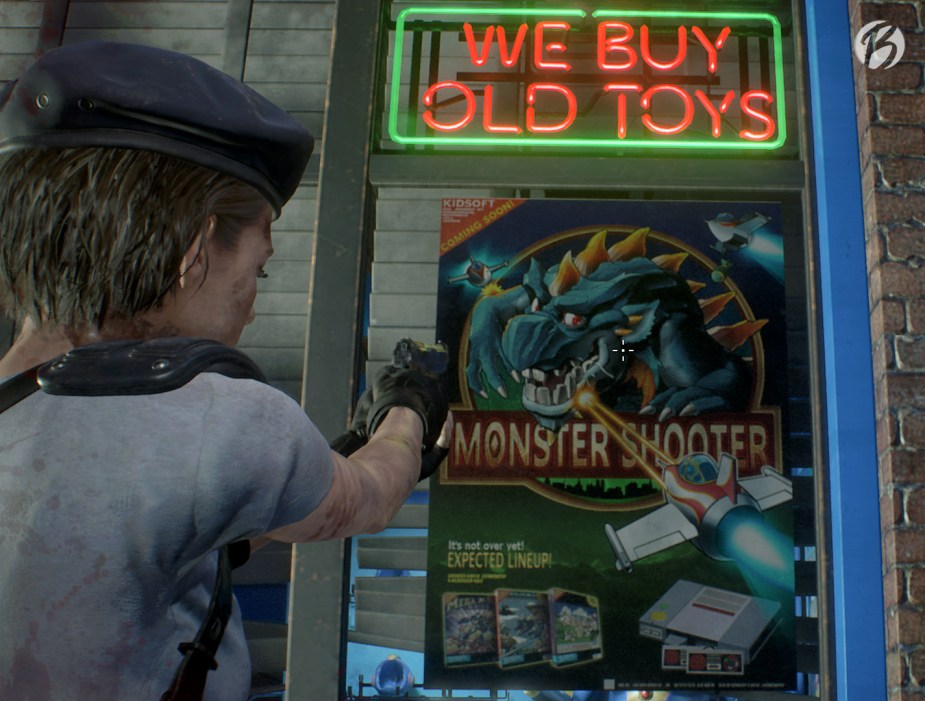 Resident Evil 3 - Monster Shooter (Monster Hunter) Easter Egg