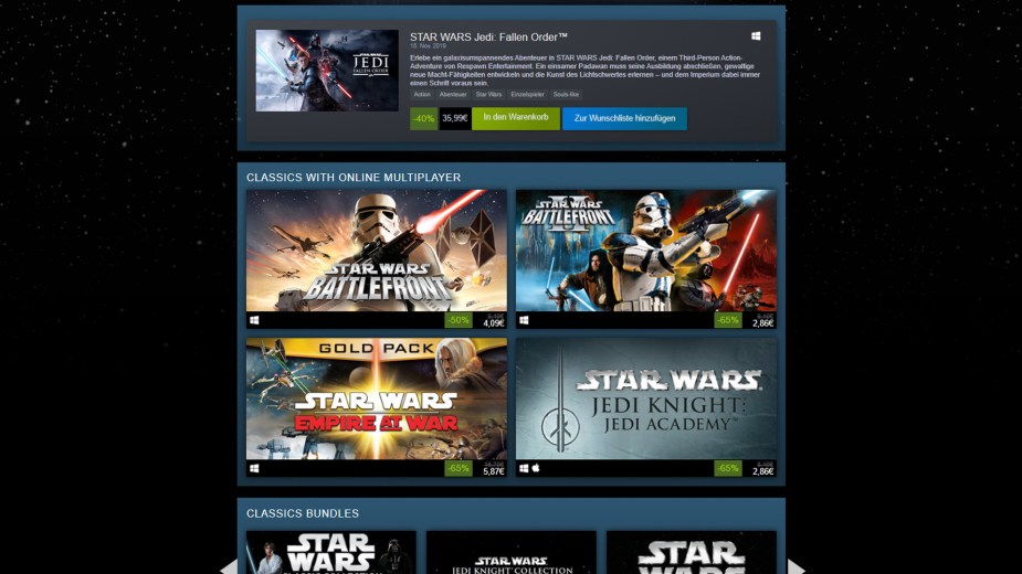 May the 4th - Steam Sale