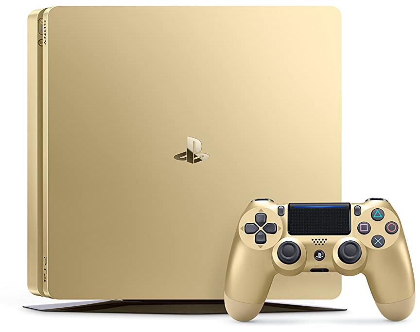 Quelle: Sony - PlayStation 4 - Konsole (500GB, gold, slim) inkl. 2. DualShock Controller