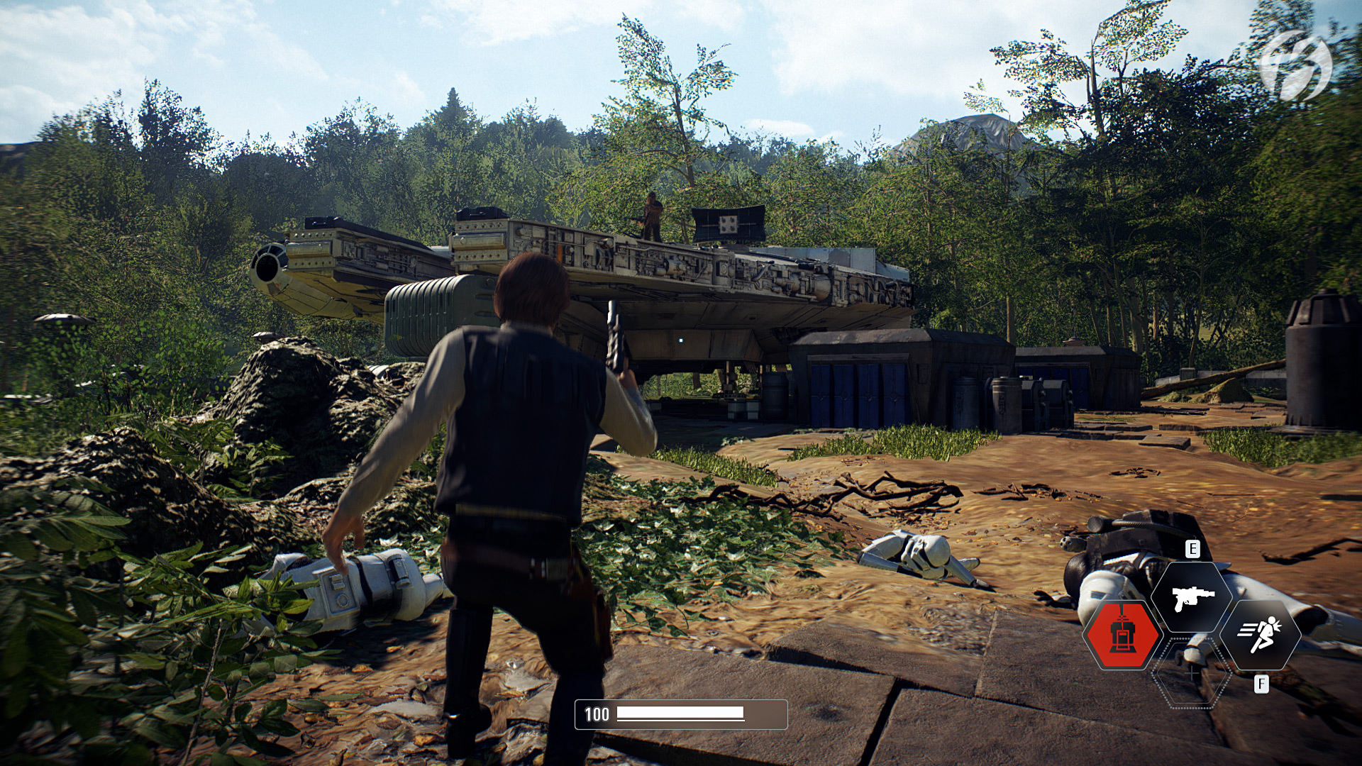 Star Wars Battlefront 2 - Han Solo und Chewbacca auf Takodana