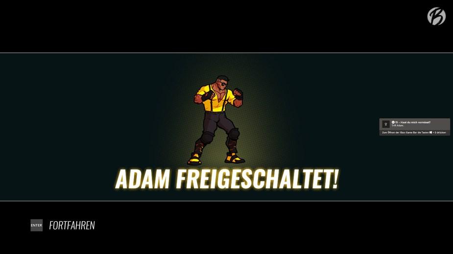 Streets of Rage 4 - Später im Spiel steht auch Adam als Spielfigur zur Auswahl.