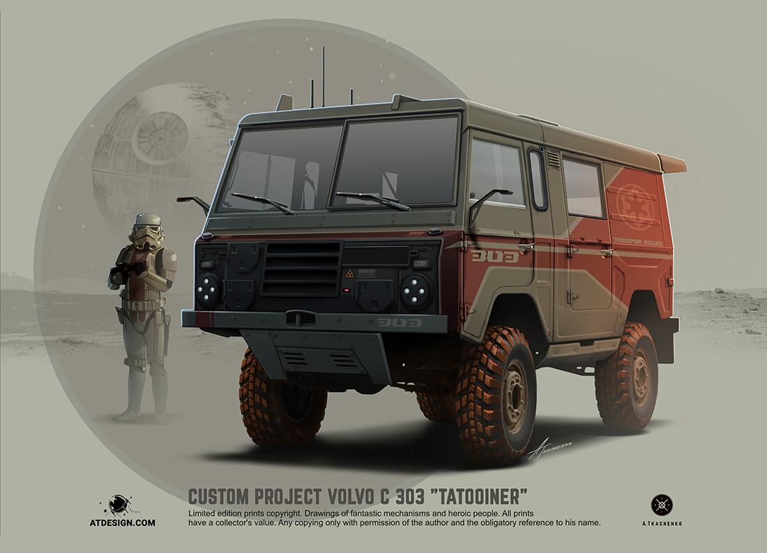 Quelle: Artstation - Andrey Tkachenko - Volvo C303 Tatooiner