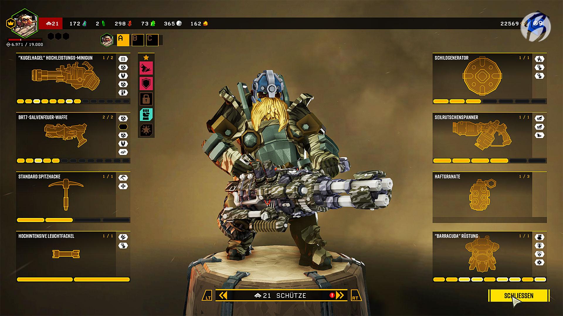 Deep Rock Galactic - Schütze: Ausrüstung, Perks und Modifikationen.