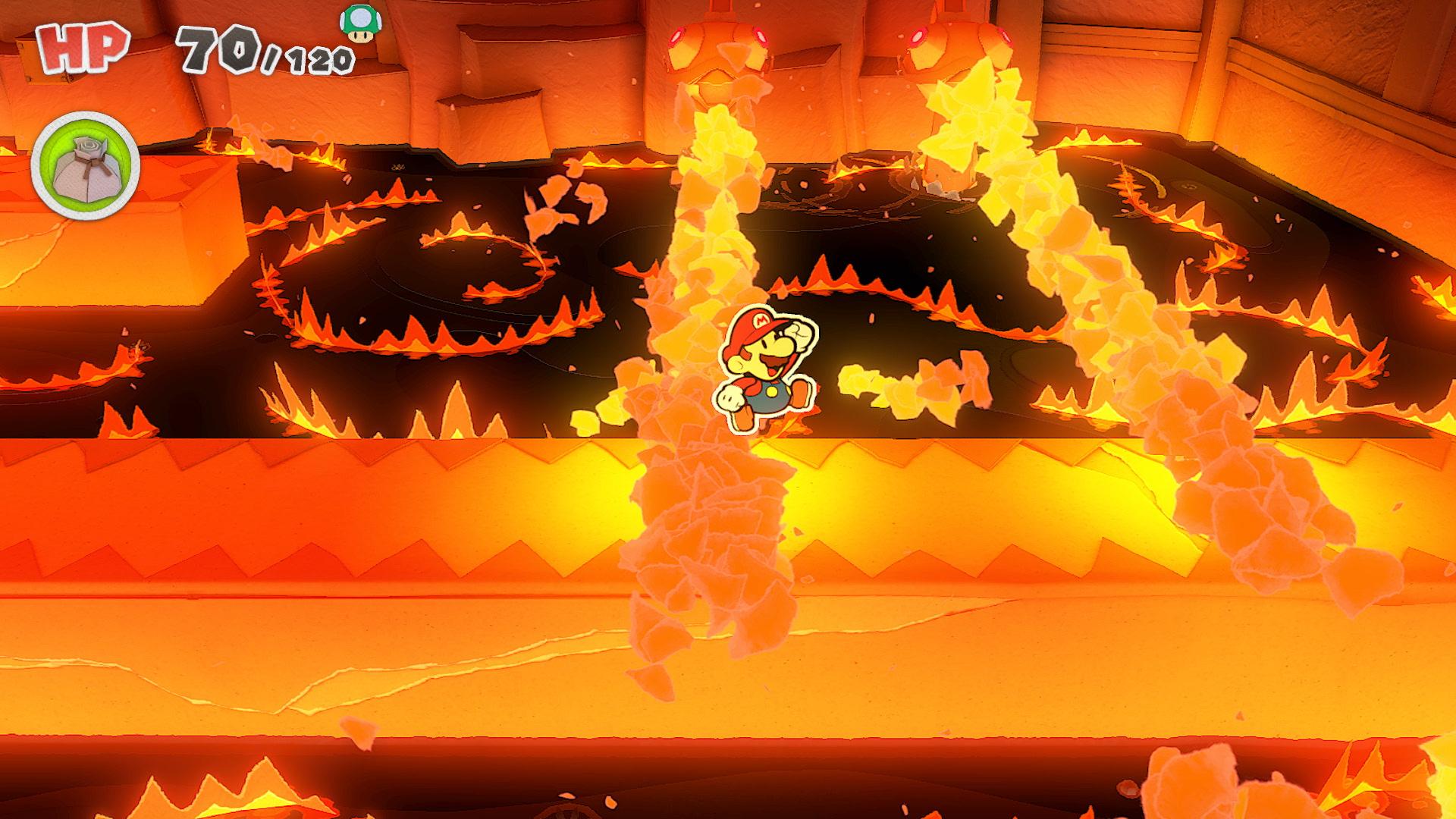 Quelle: Nintendo - Paper Mario: The Origami King - Brandgefahr!