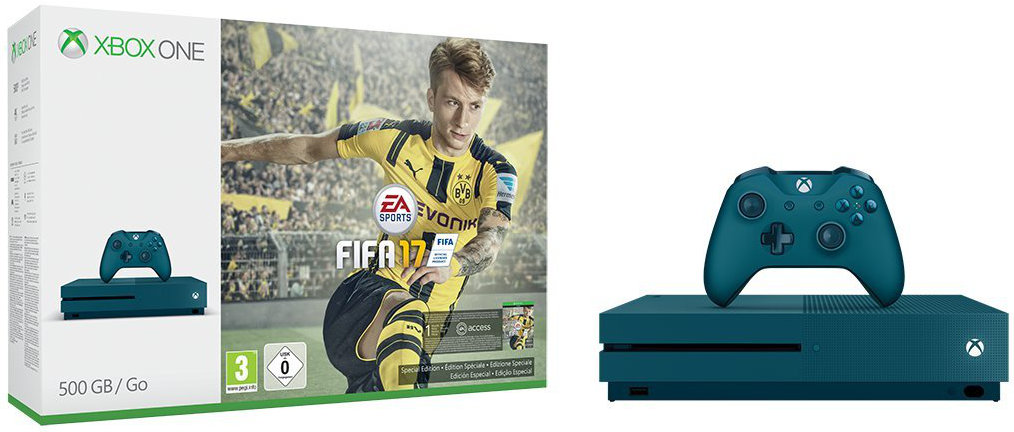 Quelle: Amazon - Xbox One S FIFA 17 Limited Edition (Blau)