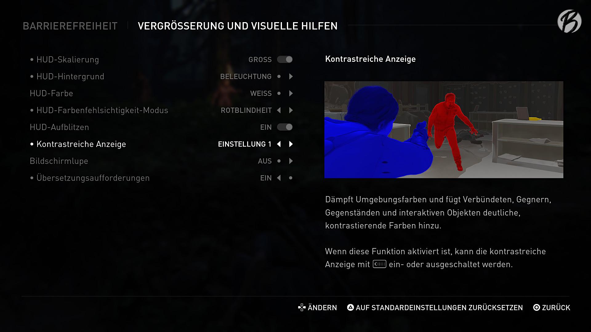 Barrierefreiheit: Dank der visuellen Hilfen können Farbenblinde und Spieler mit schwacher Sehkraft trotzdem komplett in das Spielerlebnis eintauchen.