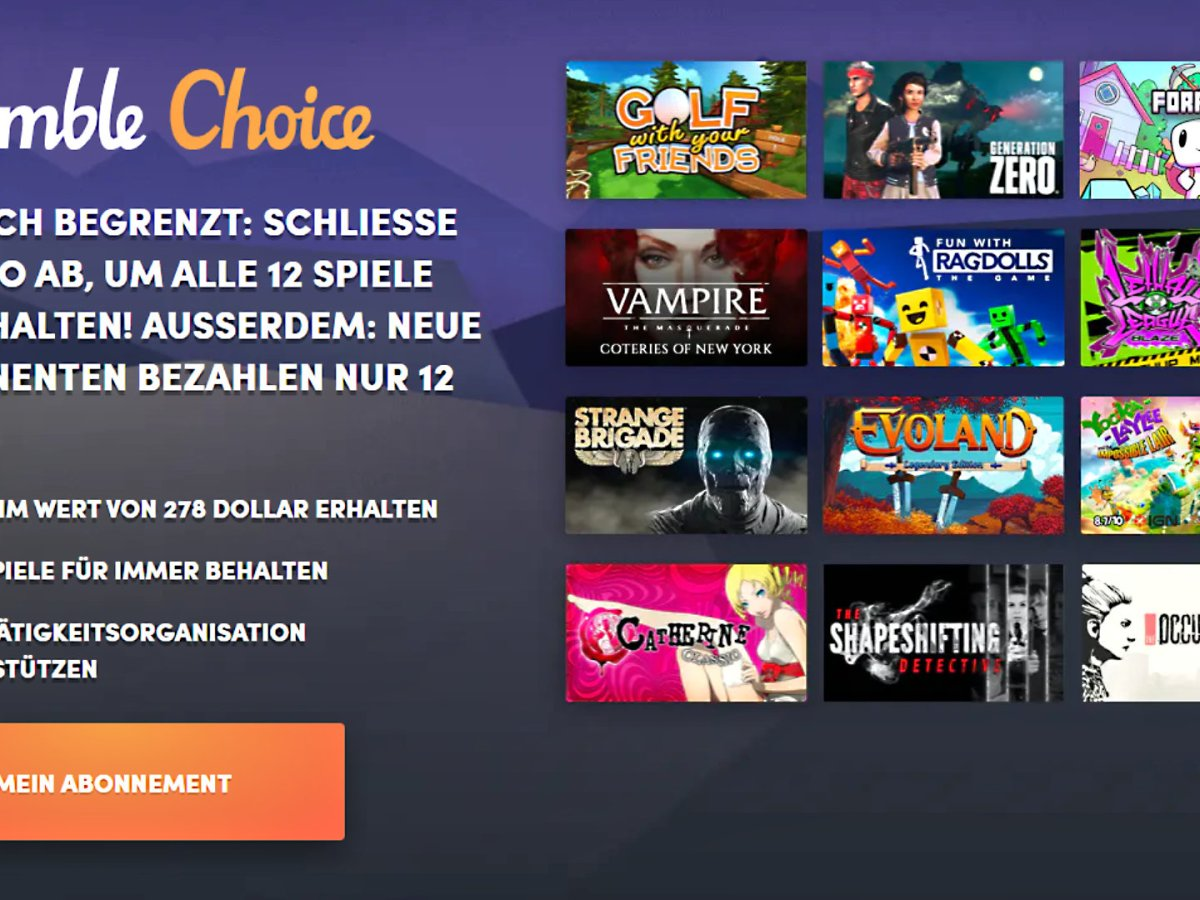 Quelle: Humble Bundle - Humble Bundle Choice September 2020