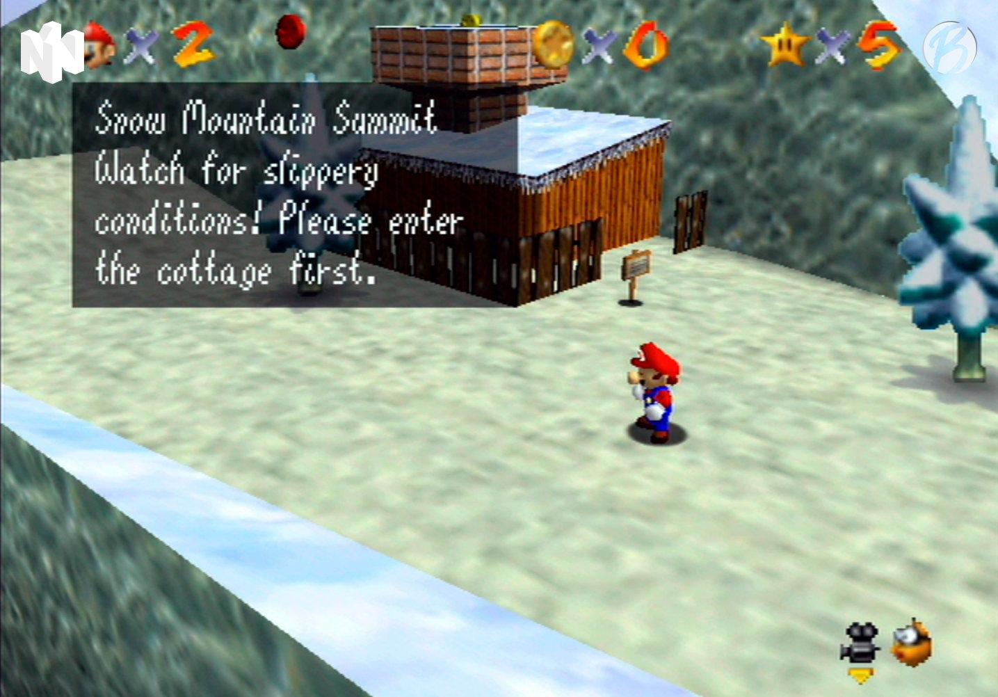 Super Mario 64 - Bibberberg Bob - Vergleich: Nintendo 64 (Upscaled)