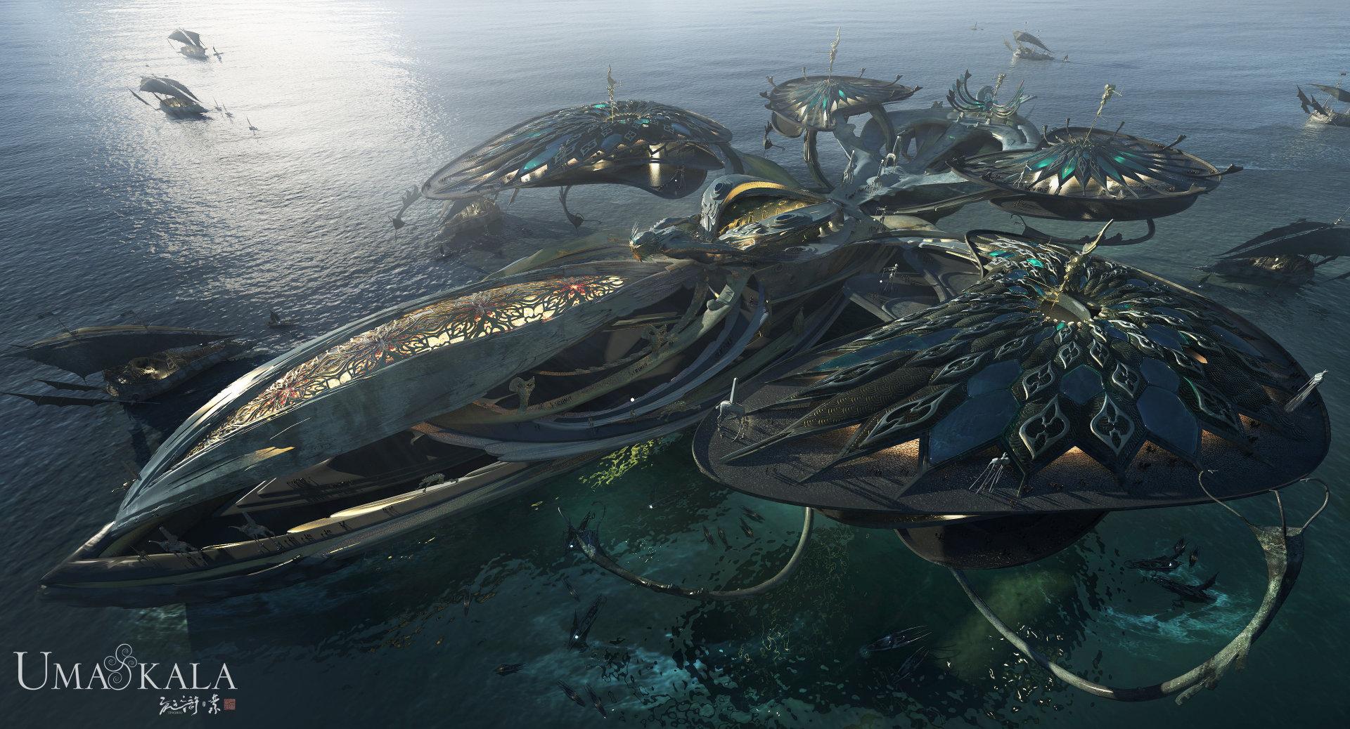 Quelle: ArtStation - Armando Savoia - Opera Ship