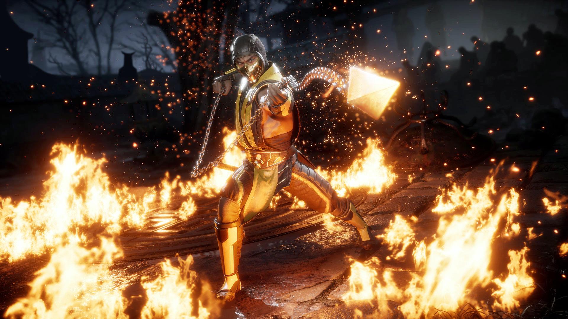 Mortal Kombat 11 - Scorpion Spear Angriff