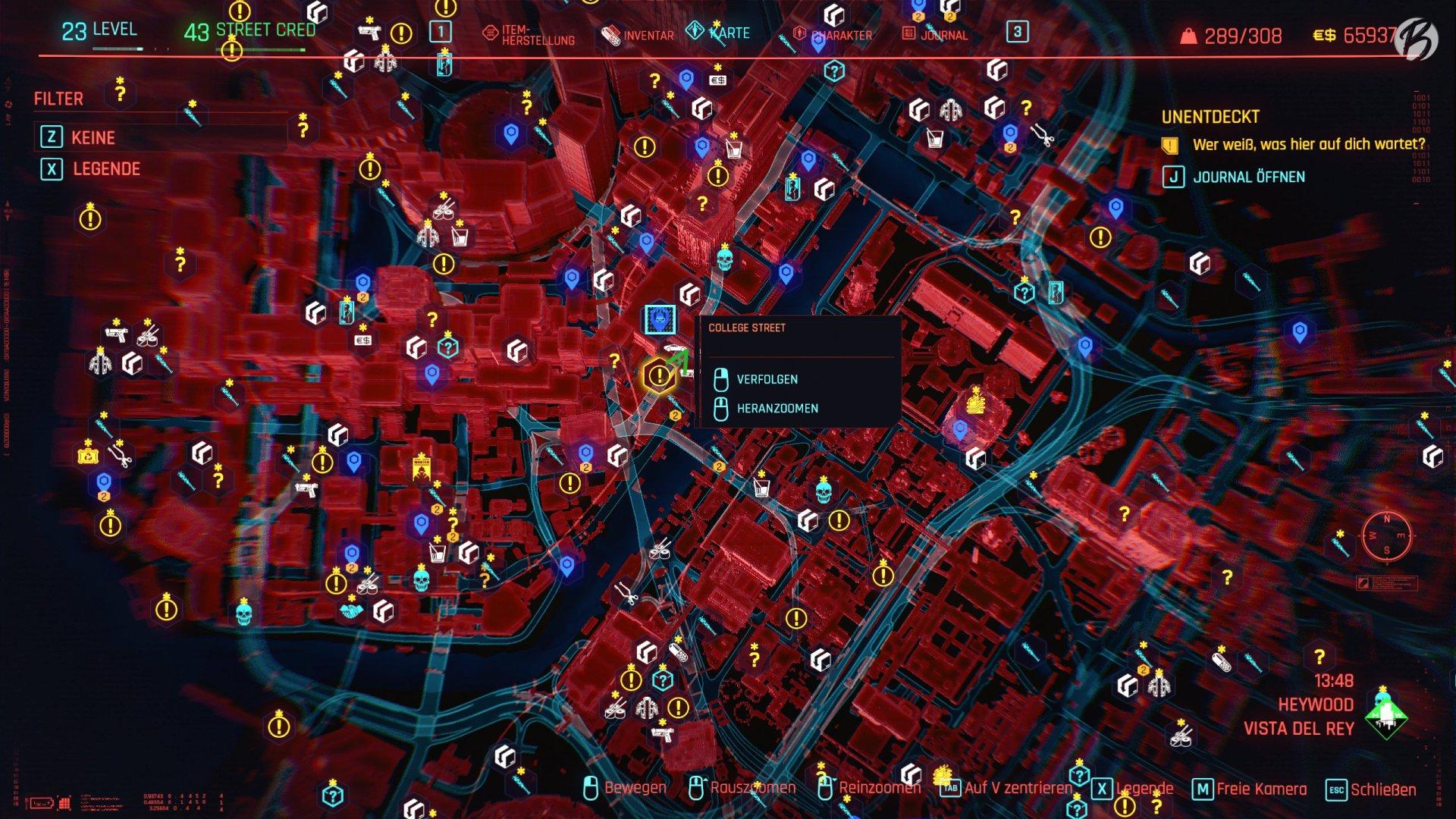 Cyberpunk 2077 - Fundort: Stadtteil Haywood, Portpunkt College Street
