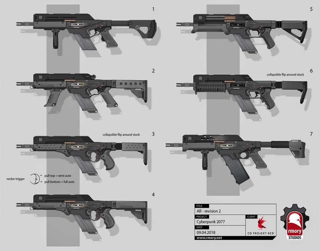 Quelle: Artstation - Kris Thaler - Cyberpunk 2077 AR Grip