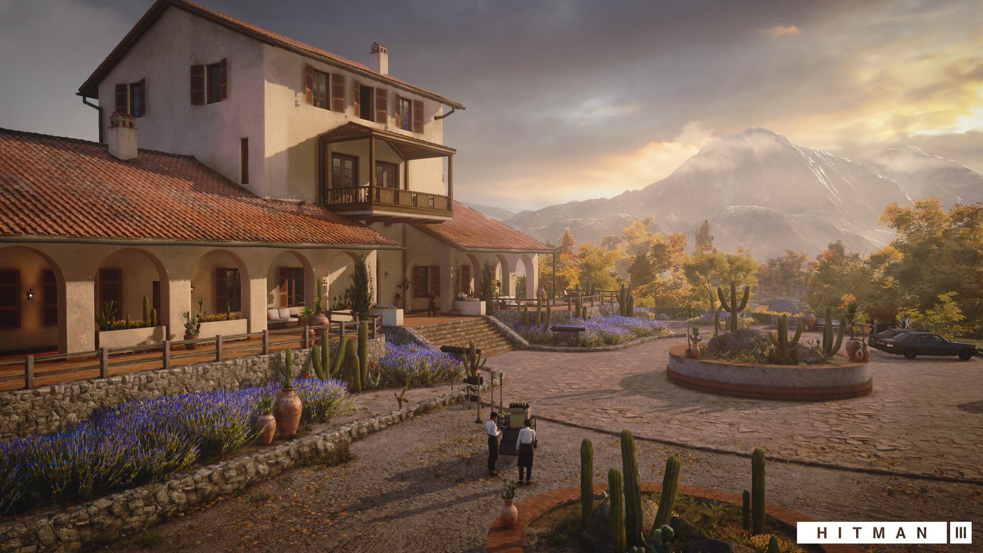 Quelle: ArtStation - Hitman 3: Mendoza (2021) - Villa