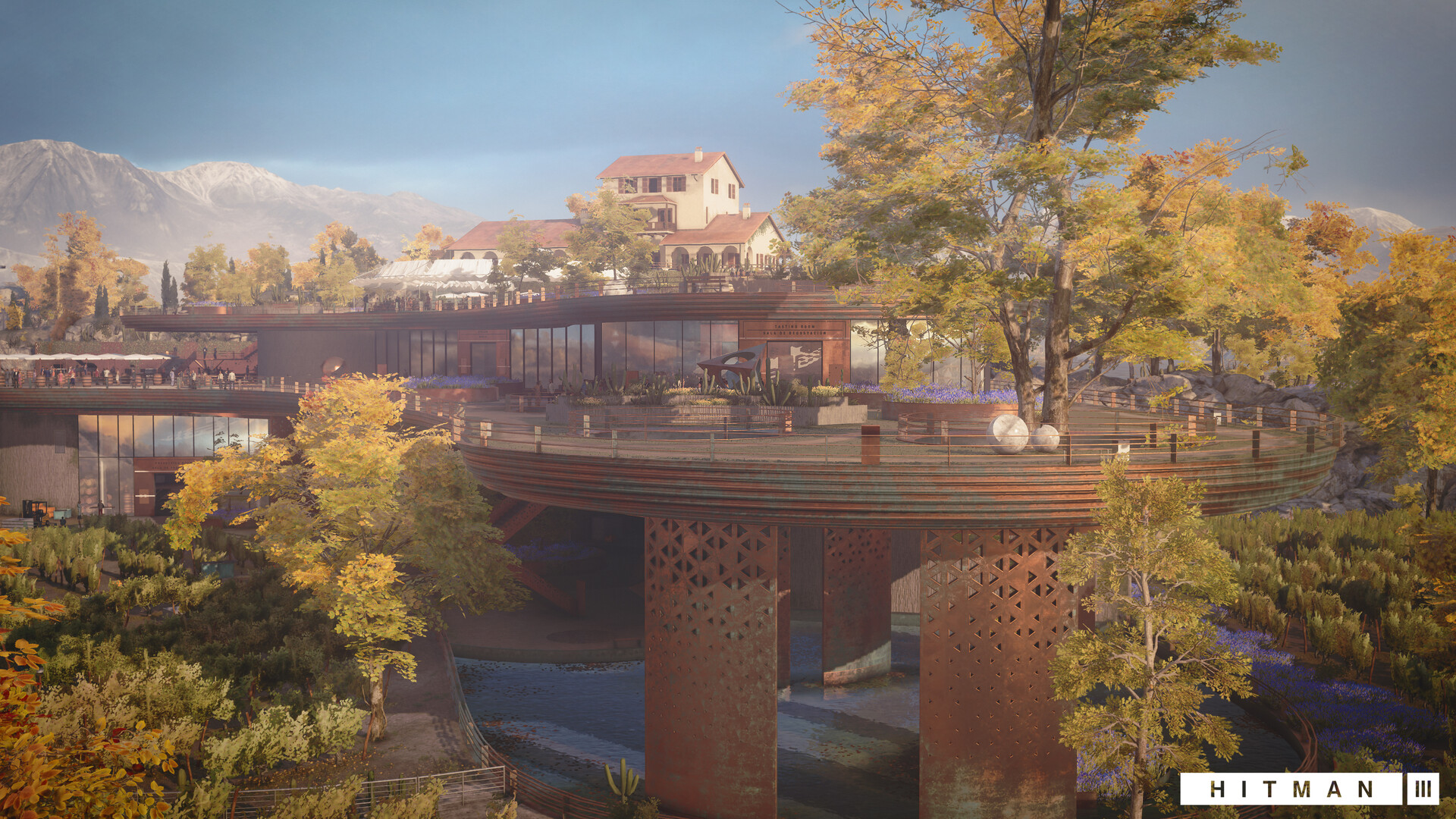 Quelle: ArtStation - Hitman 3: Mendoza (2021) - Terrasse