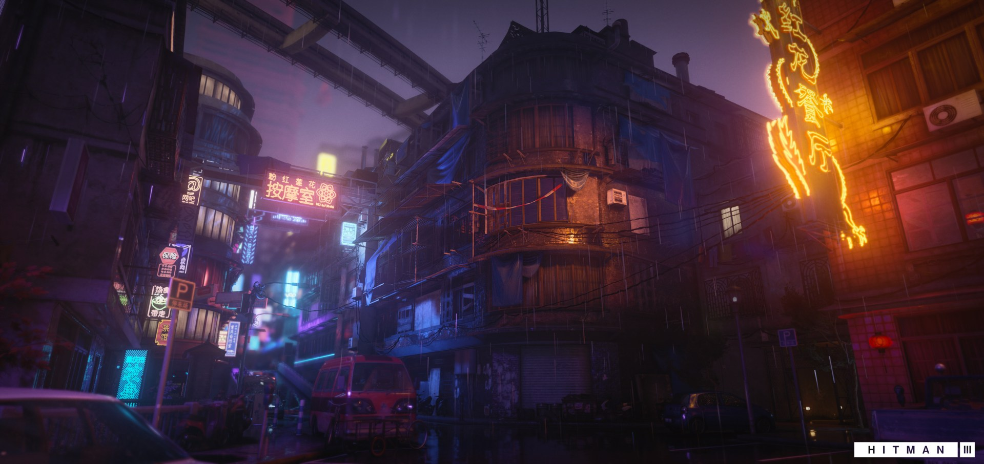 Quelle: ArtStation - Manne Westermark - Hitman 3: Chongqing Leuchtreklame