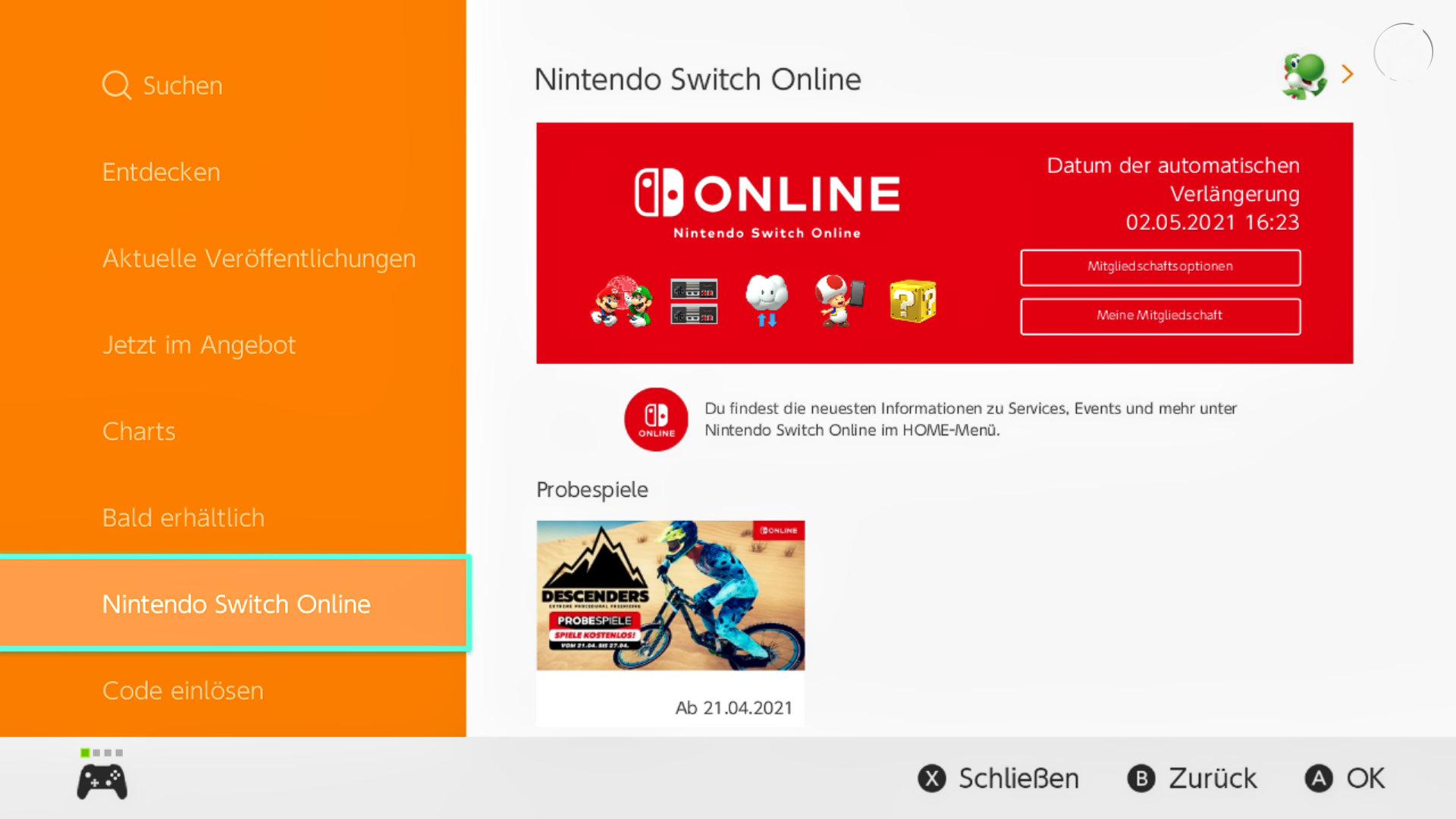 Nintendo eShop: Nintendo Switch Online App