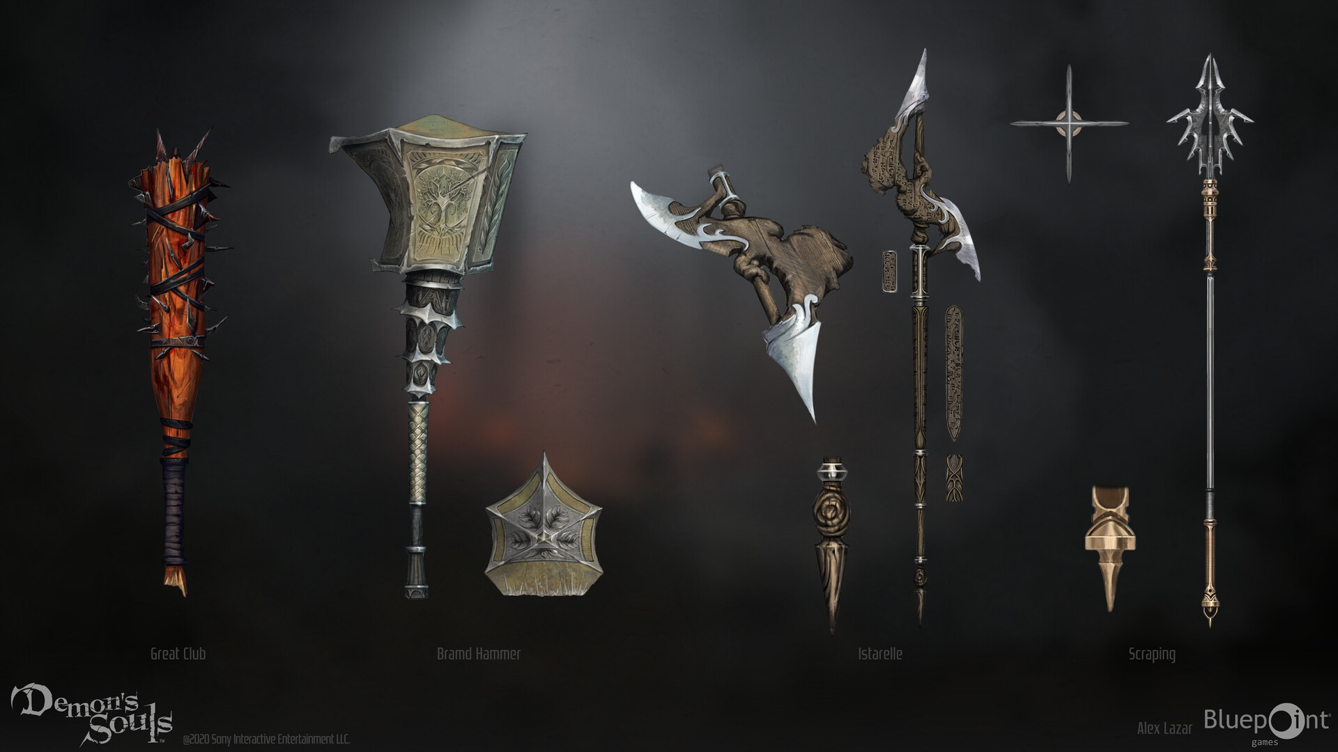 Quelle: Artstation - Alex Lazar - Spears and Hammers