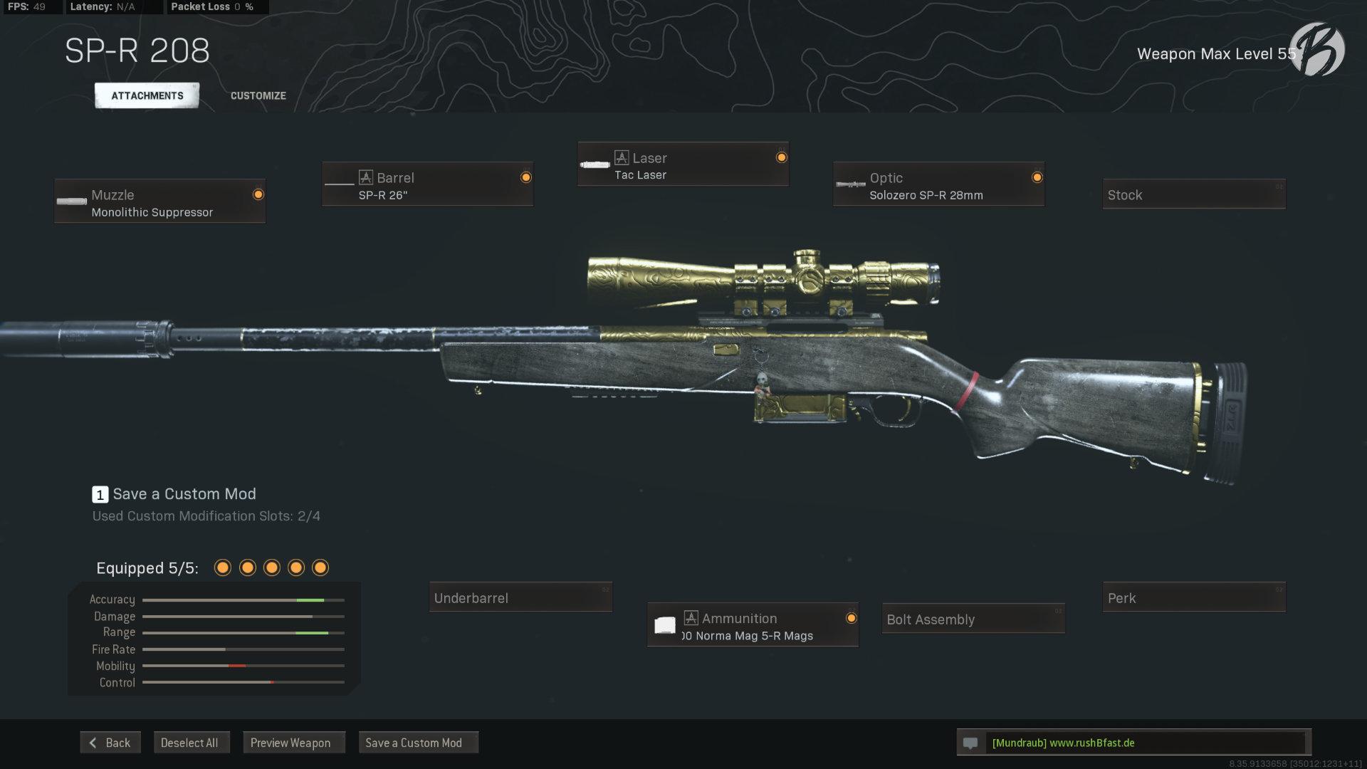 Call of Duty Warzone - Cold War Season 3 - SP-R 208