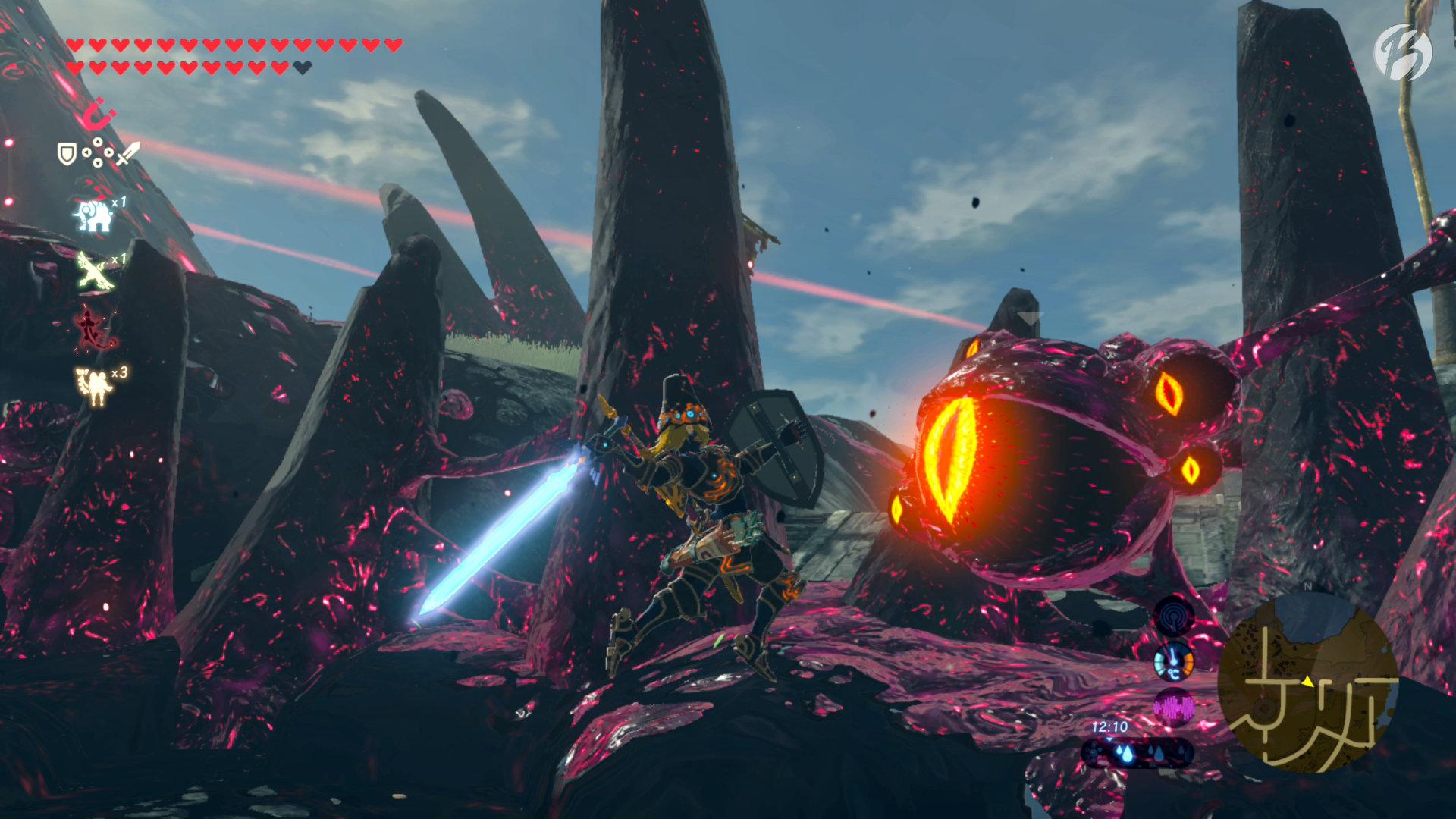 The Legend of Zelda: BotW - Barrieren zerstört, um einen sicheren Weg in das Schloss Hyrule zu finden.