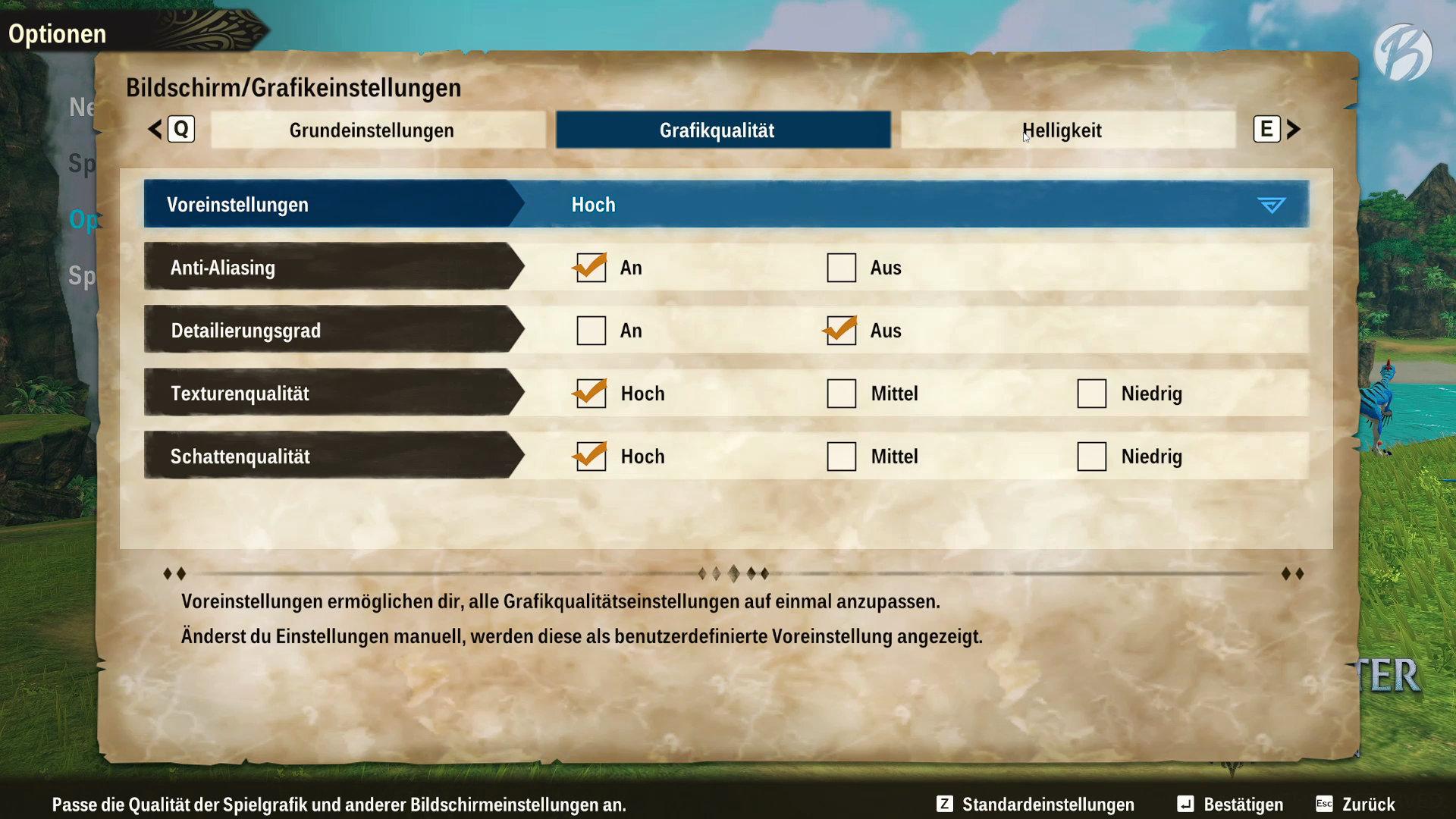 Monster Hunter Stories 2: WoR - Überschaubare Grafikeinstellungen