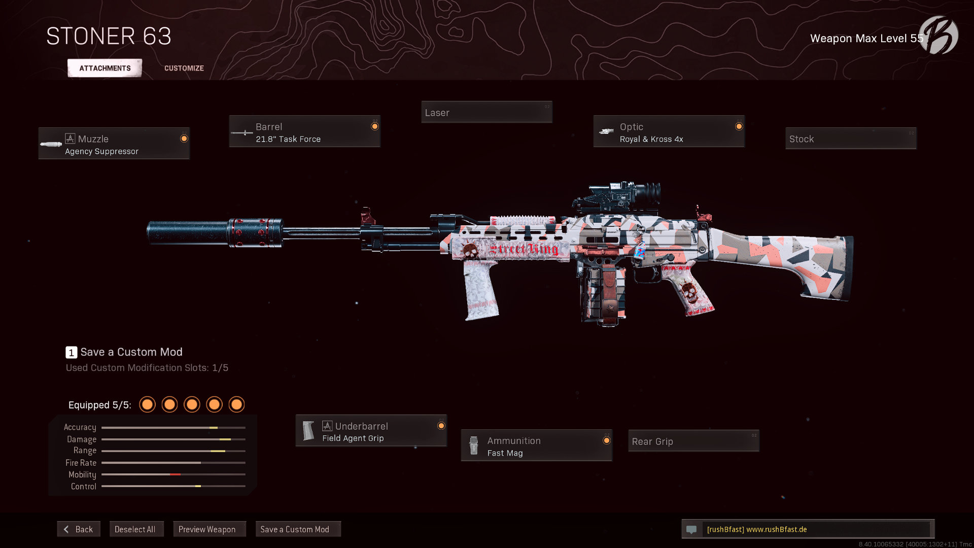 Call of Duty Warzone - Cold War Season 5 - Stoner 63 (englisch)
