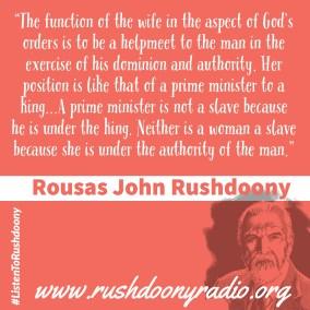 Rushdoony Quote 42