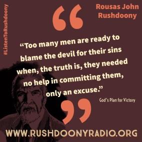 Rushdoony Quote 74