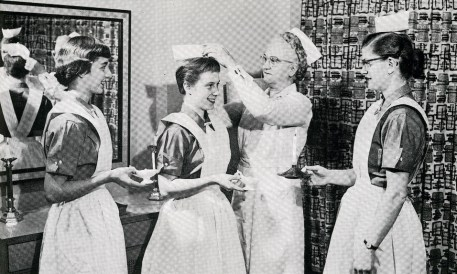 Presbyterian Hospital School of Nursing capping ceremony, 1956