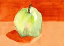 """Apple Still Life, "" Donnisha, age 15, gouache"