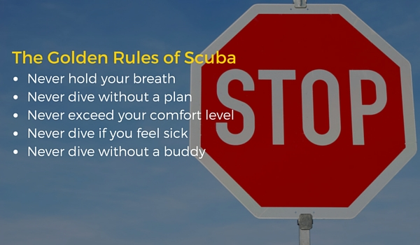 Things Never to Do While Scuba Diving