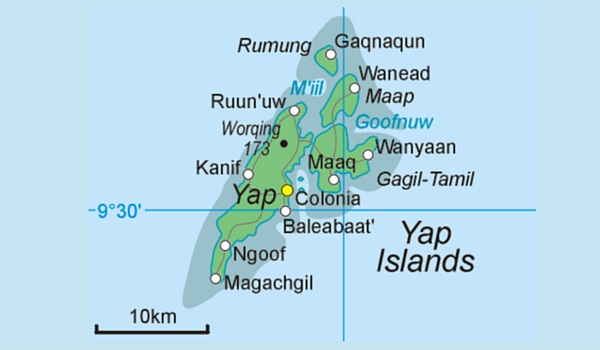 map of the yap islands