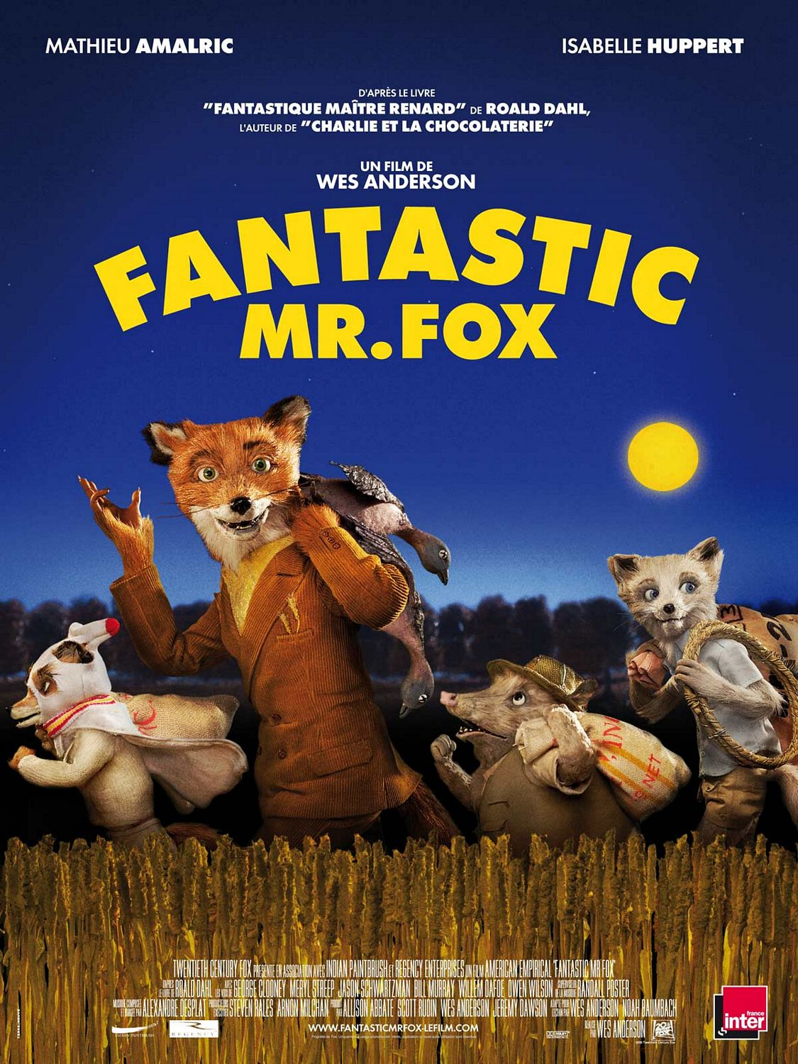 French Fantastic Mr Fox Poster The Rushmore Academy