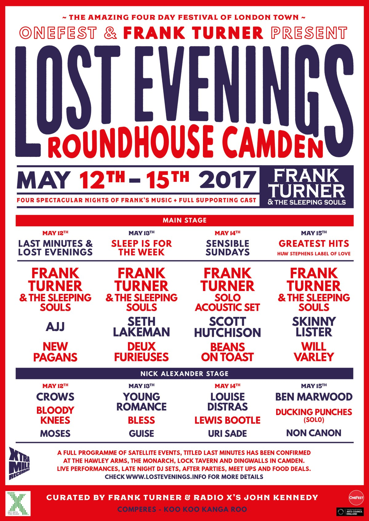Frank Turner Lost Evenings Full Line Up