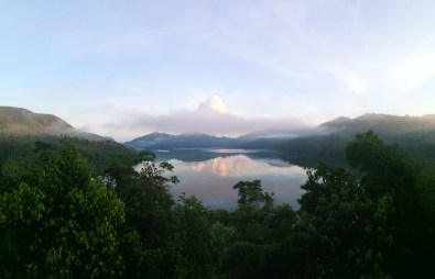 Birds' eye view of Lake Danao