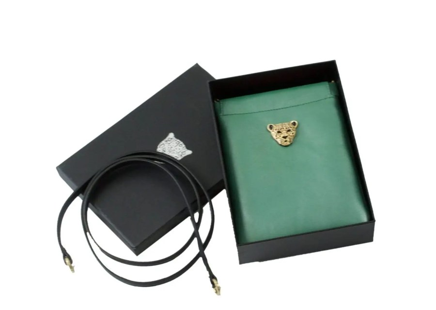Green Capsule Clutch boxed
