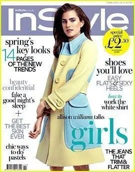 allison williams covers instyle uk february 2014