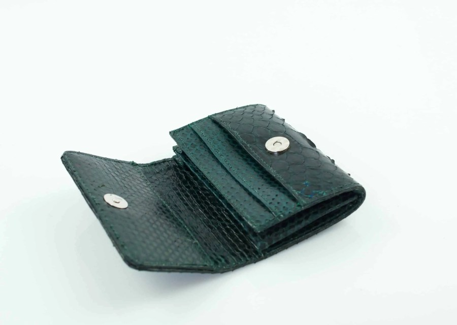5.4 Dark Green mini wallet  scaled