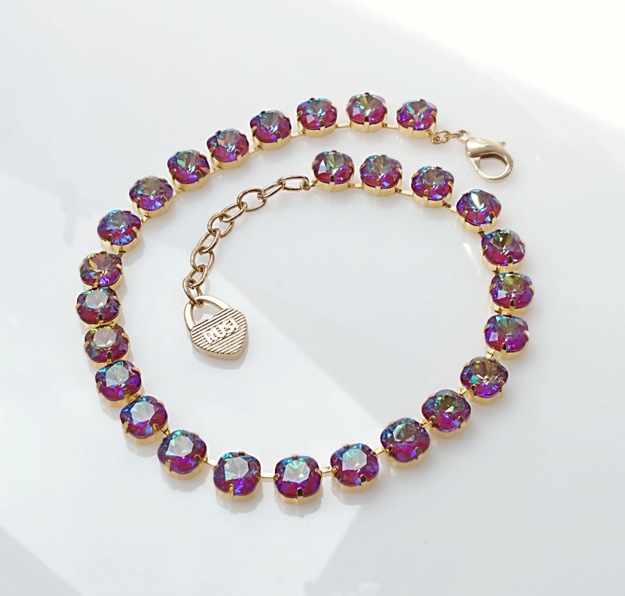 Purple Anna Necklace with Crystals