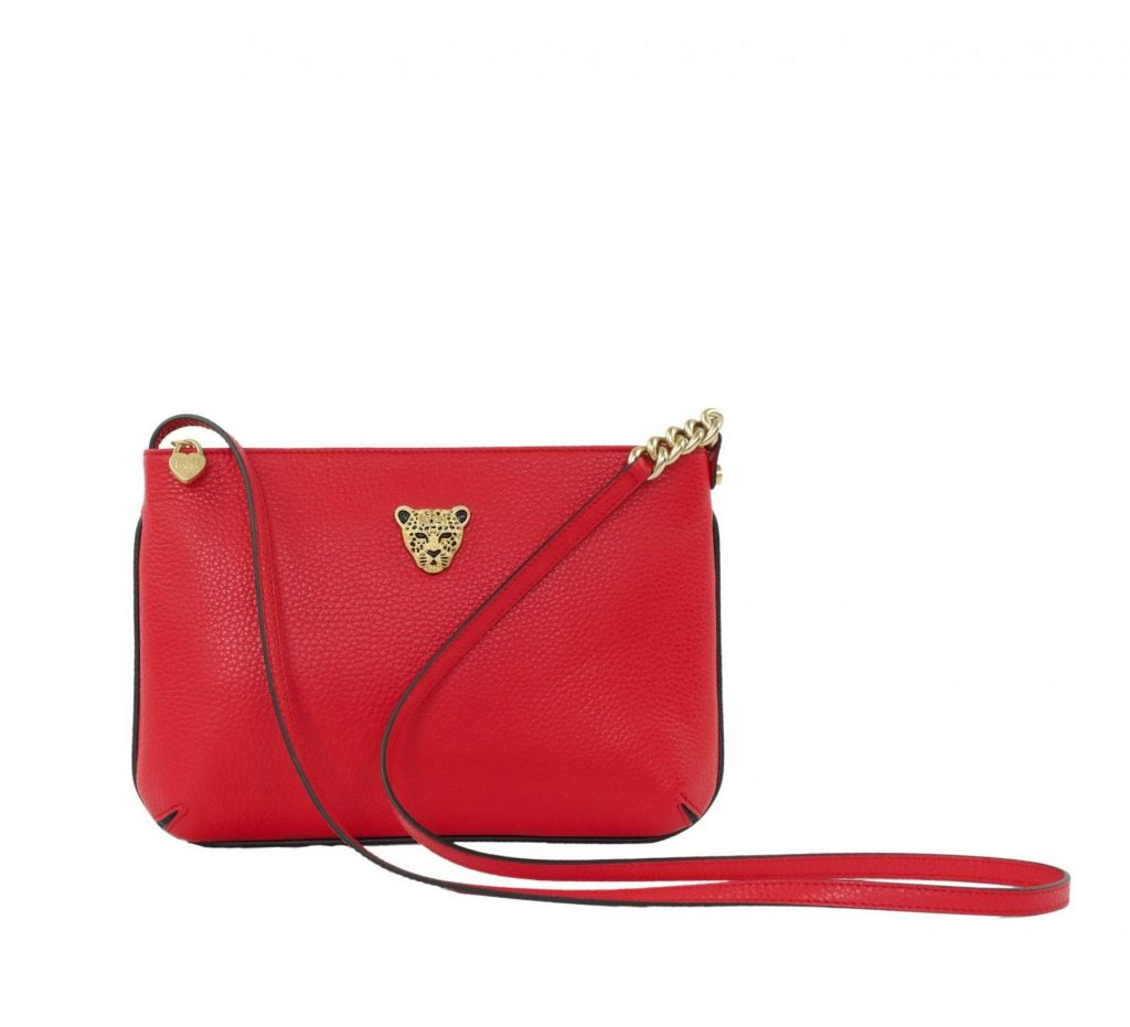 Star 2.0 Bag in Red / Cross Body with Gold Logo