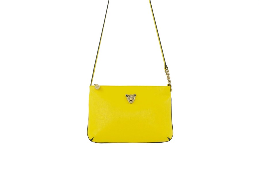 Star 2.0 Bag in Yellow / Cross Body with Gold Logo
