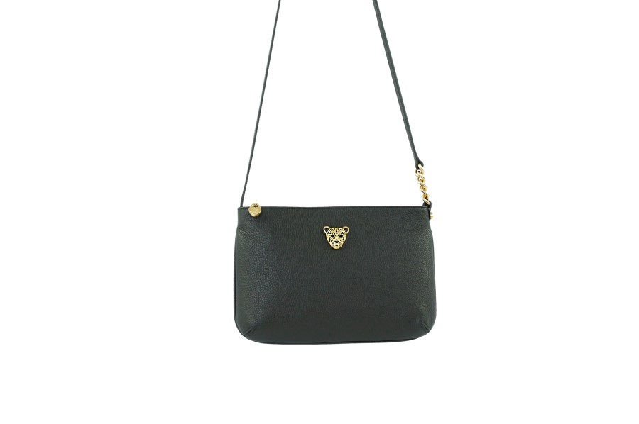Star 2.0 Bag in Black / Cross Body with Gold Logo