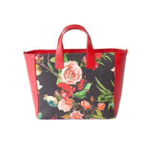 Flower B Canvas Mix Tote