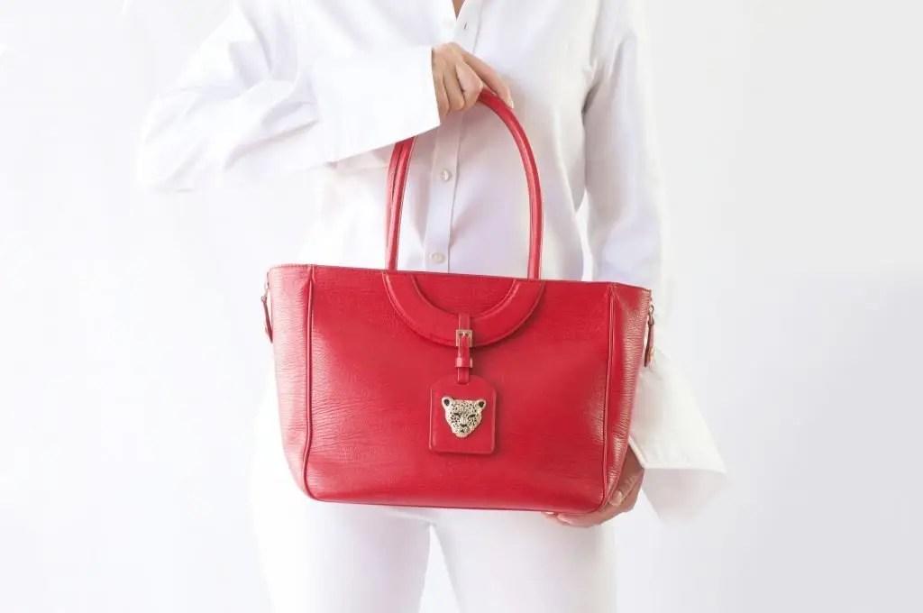 Mezzaluna Tote Bag in Red