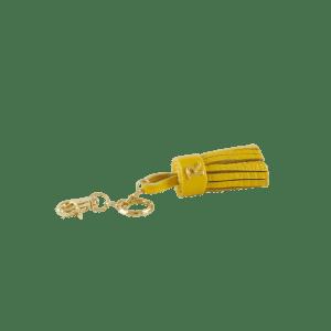 Yellow Tassel Keyring Keychain