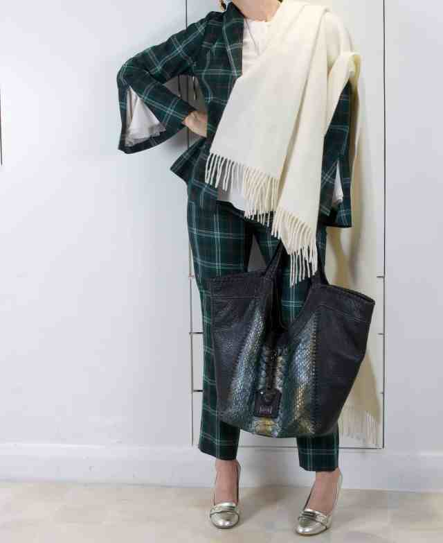 Green Checks sara bag
