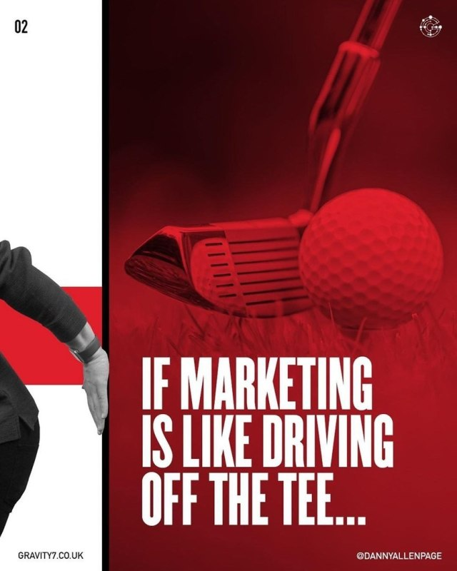 If marketing is like driving off the tee...