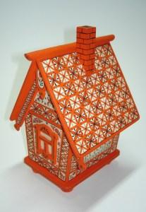 мезенская роспись домик